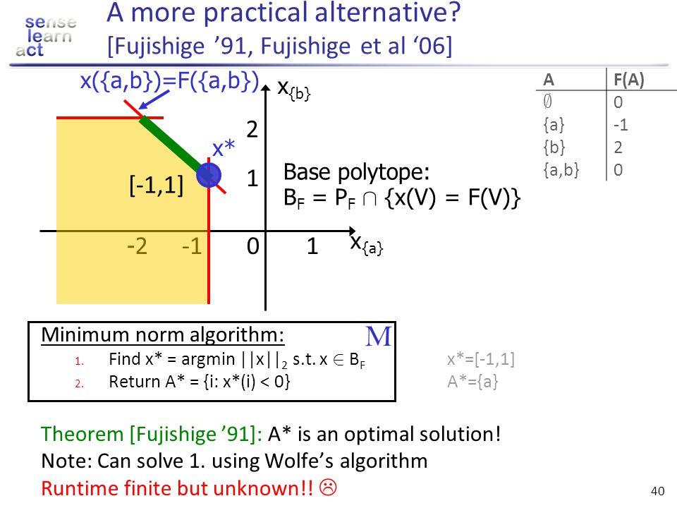 A more practical alternative [Fujishige '91, Fujishige et al '06]